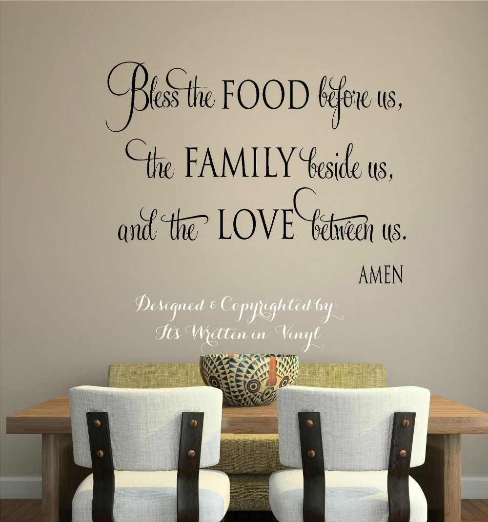 Christian Wall Stickers Quotes Vinyl Decal Home Decor - Vinyl decals for kitchen walls