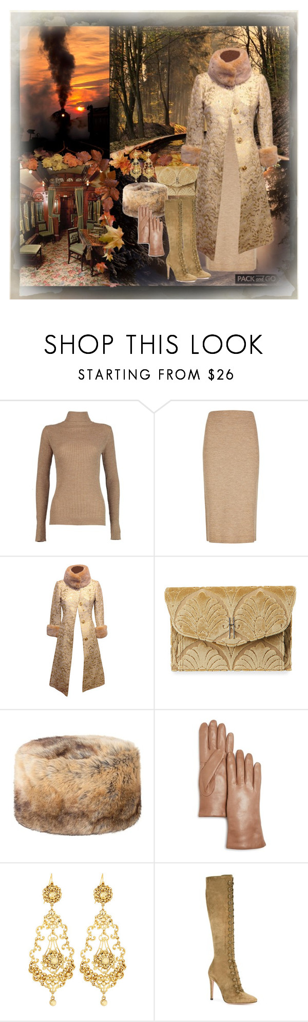 """""""Pack and Go: Winter Getaway"""" by dezaval ❤ liked on Polyvore featuring Boohoo, Winser London, Dolce&Gabbana, Hayward, DUBARRY, Bloomingdale's, Jose & Maria Barrera, Gianvito Rossi and Packandgo"""