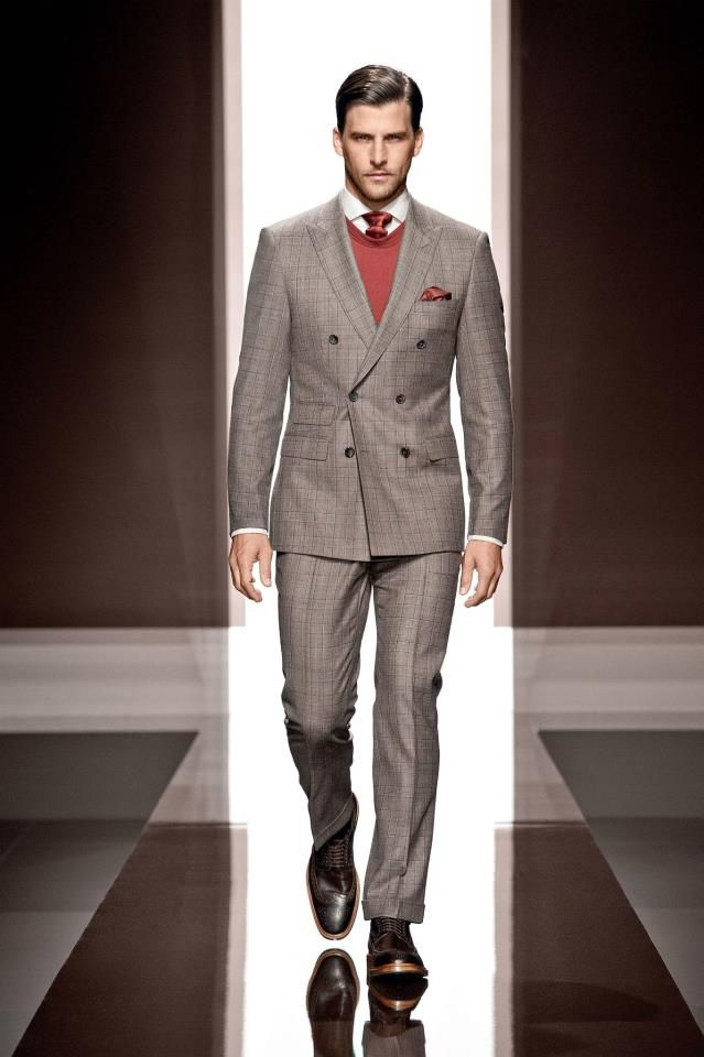 a8af62673cdf3b Double breasted suit, sweater, tie, shirt | gentleman style | Suits ...