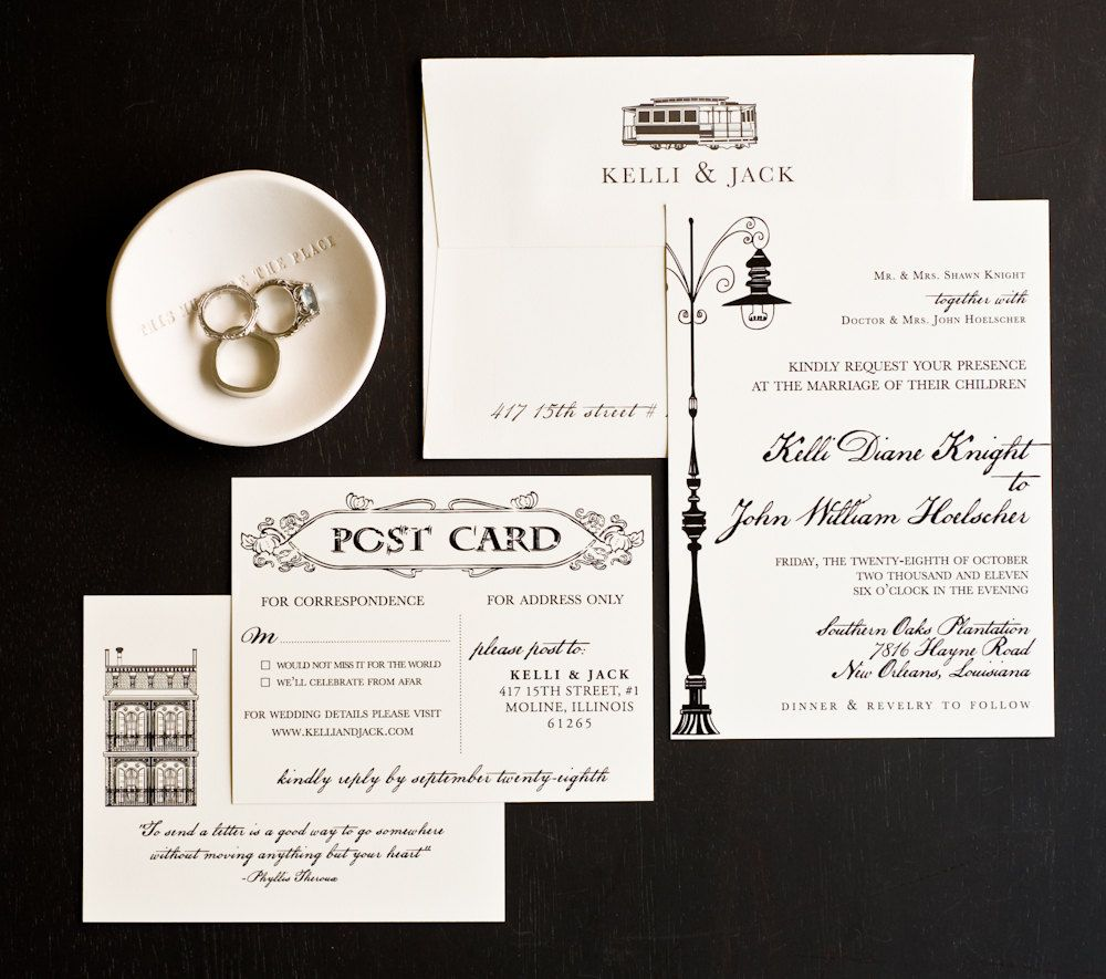 Wedding Invitation, New Orleans Love Letter Wedding Collection, New ...