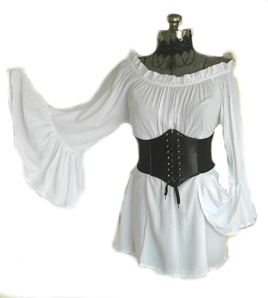 26da359f6dd RENAISSANCE BLOUSE   CORSET SET 2PC 4 COLOR CHEMISE MEDIEVAL PIRATE WENCH  GYPSY  Unbranded  CORSET