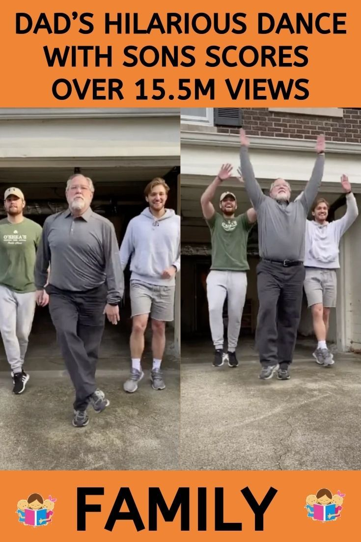 Photo of Dad's Hilarious Dance With Sons Scores Over 15.5M Views