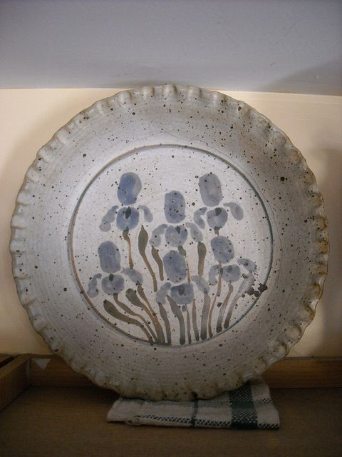 Cynthia Holdefer Deep Dish Pie Plate, 1982