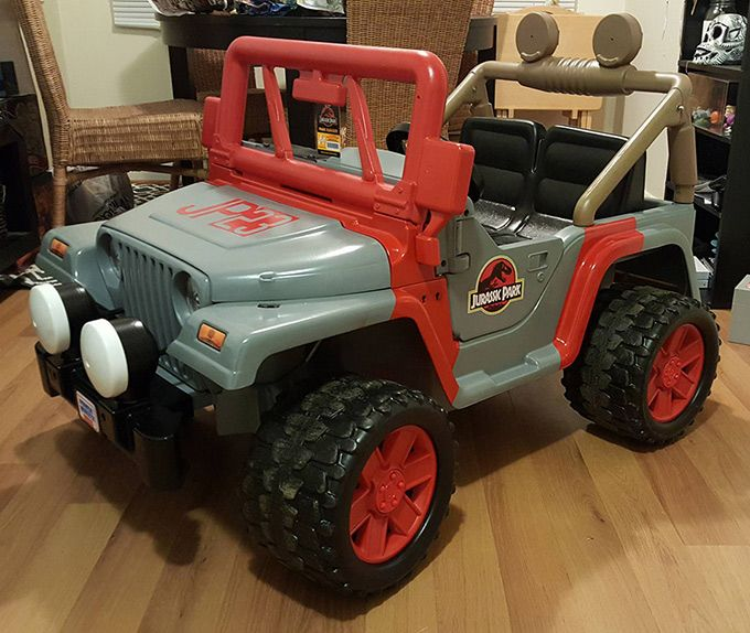 Pin By Gina Guzzi On Diy Jurassic Park Jeep Power Wheels Jeep