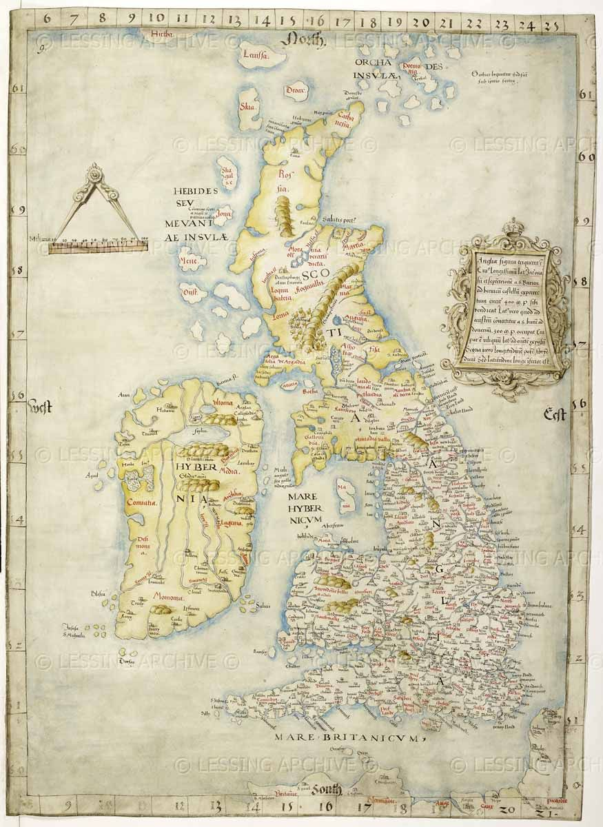 Map Of The British Isles Ca 1534 1546 Cotton Augustus I I 9 Map Of Britain Old Maps Map Of Great Britain