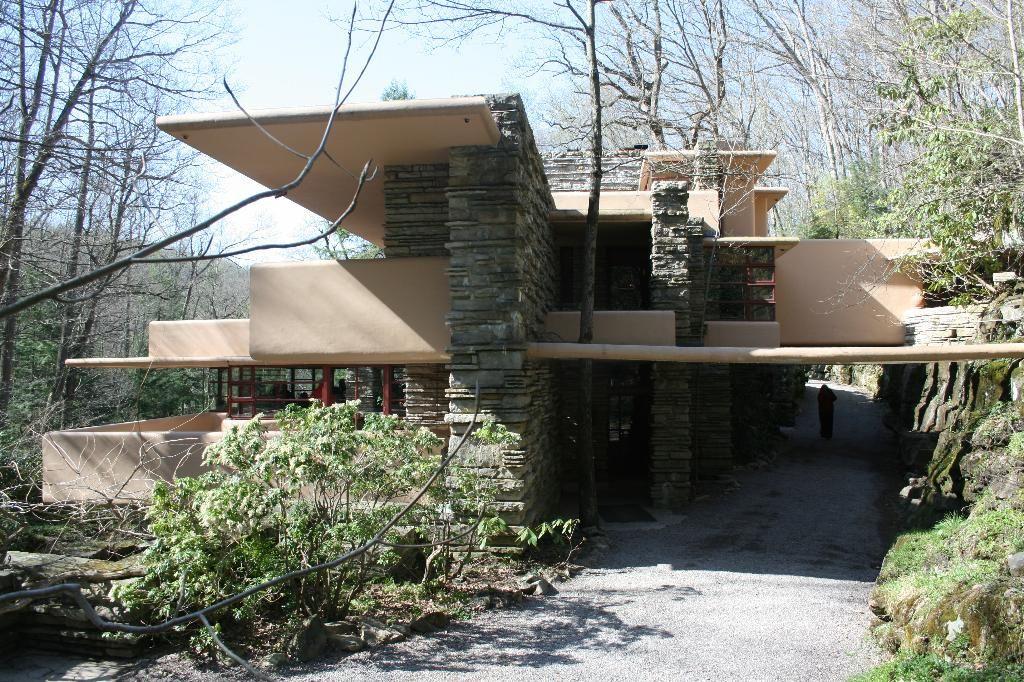 Falling Water Entry Frank Lloyd Wright Architecture Lloyd Wright Falling Water House