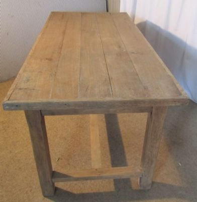 19th Century French Original Bleached Oak Farmhouse Dining Table