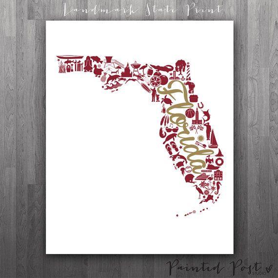 Tallahassee florida landmark state gicl e print 8x10 for International decor outlet jacksonville fl