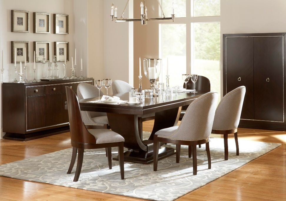 Designed By Glucksteinhome The Pinstripe Dining Room Collection