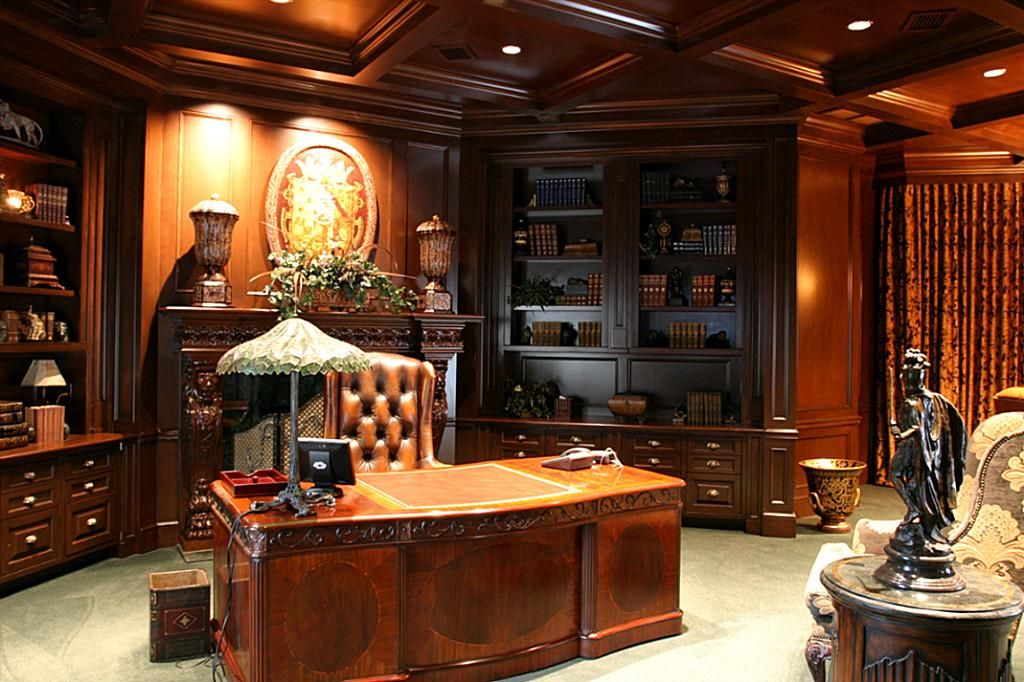It s every man s dream to have a domain such as. the Executive Office Library  It s every man s dream to have a