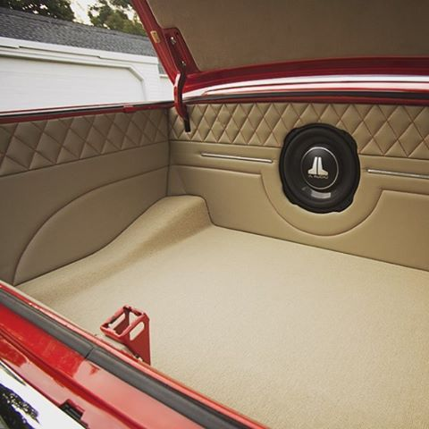 Thehogring Custom Trunk In A 1963 Chevy Nova By Custom Car Interior Car Car Interior Upholstery