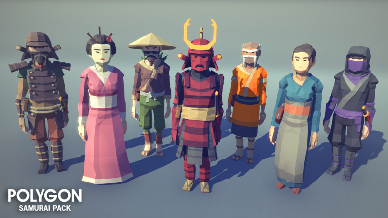 POLYGON - Samurai Pack A low poly asset pack of characters