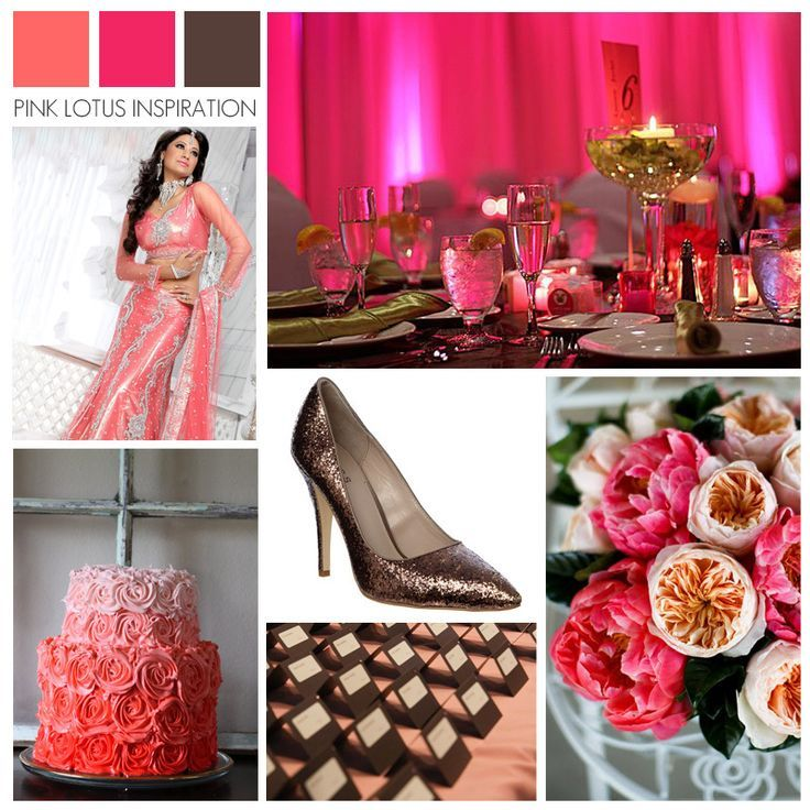 pinterest coral color ispirations    Wedding Color Inspiration - Coral Pink Brown   Wedding Bliss