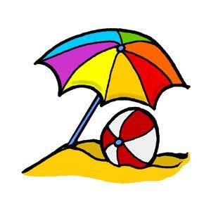 Umbrella Beach Ball Clipart Polyvore Beach Beach Clipart