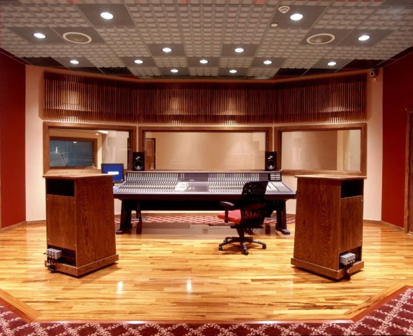 MPireRecordingStudioacousticceilingwoodslatdiffusers - Sound room design