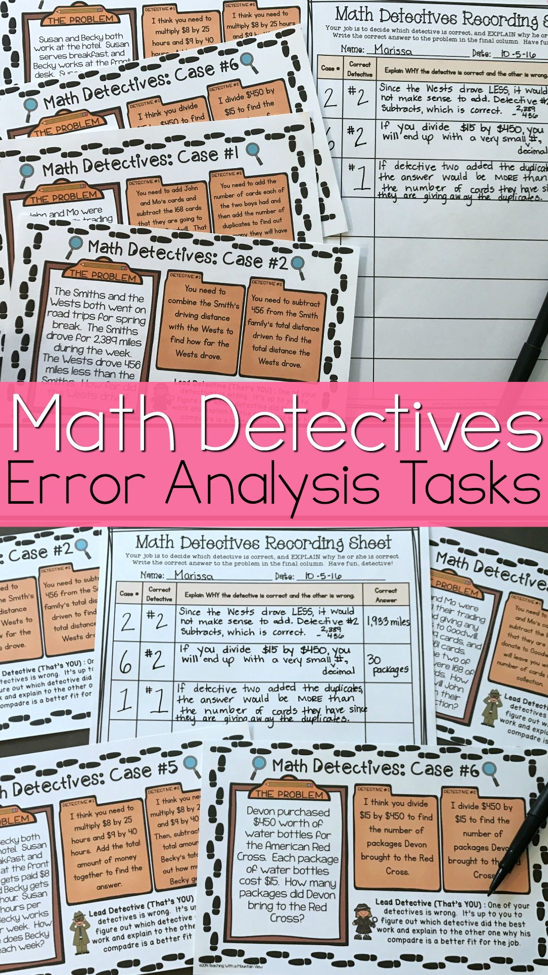 Multi Step Math Detective Task Card Distance Learning Lesson Plan Elementary Proper And Improper Paraphrasing