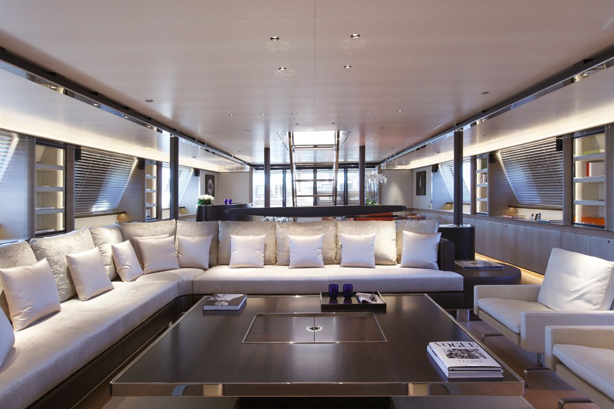 light & airy yacht interior saloon | yacht interior | pinterest, Innenarchitektur ideen