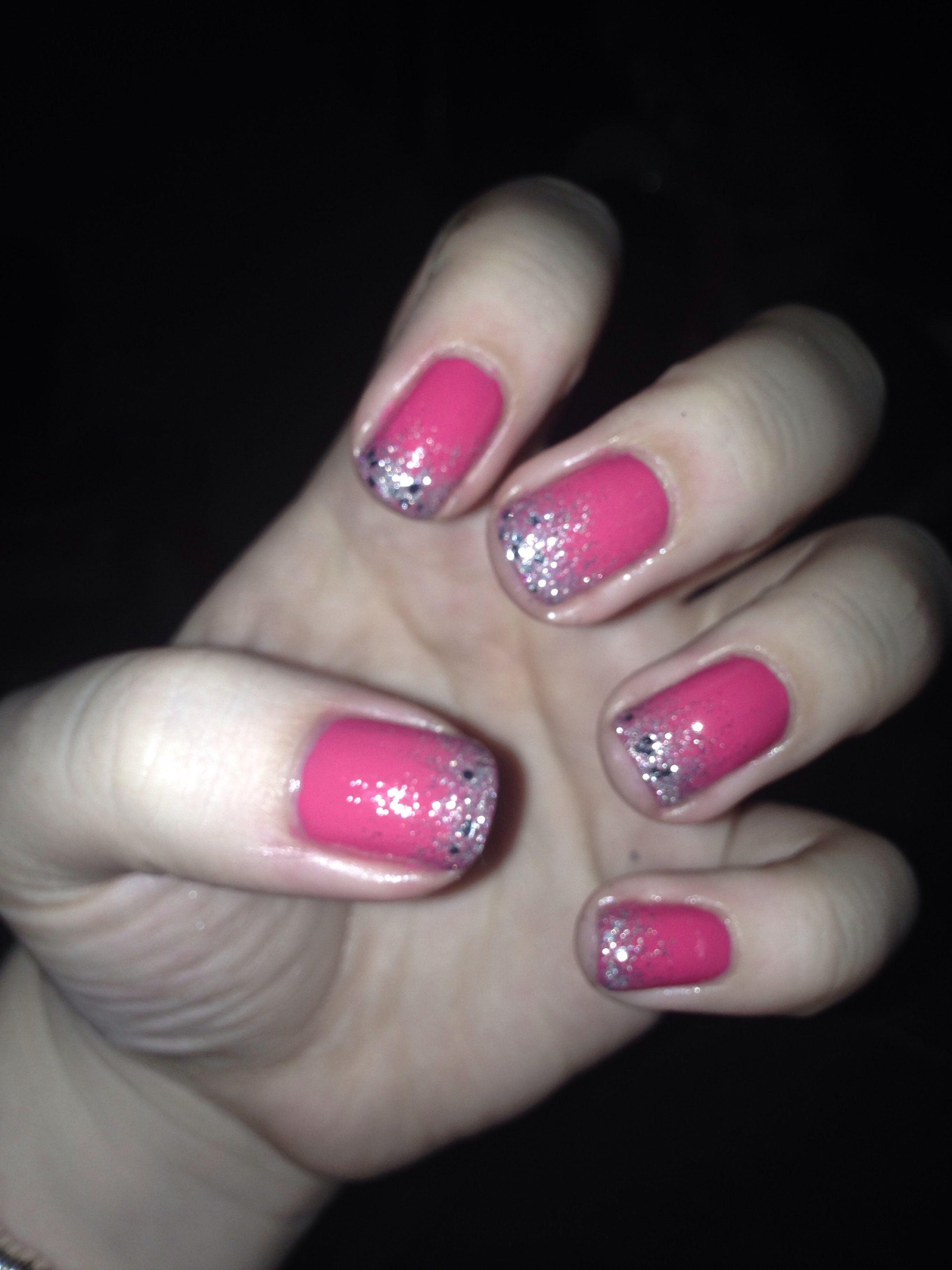 Vikkis Design - Pink/Silver Glitter Gradient