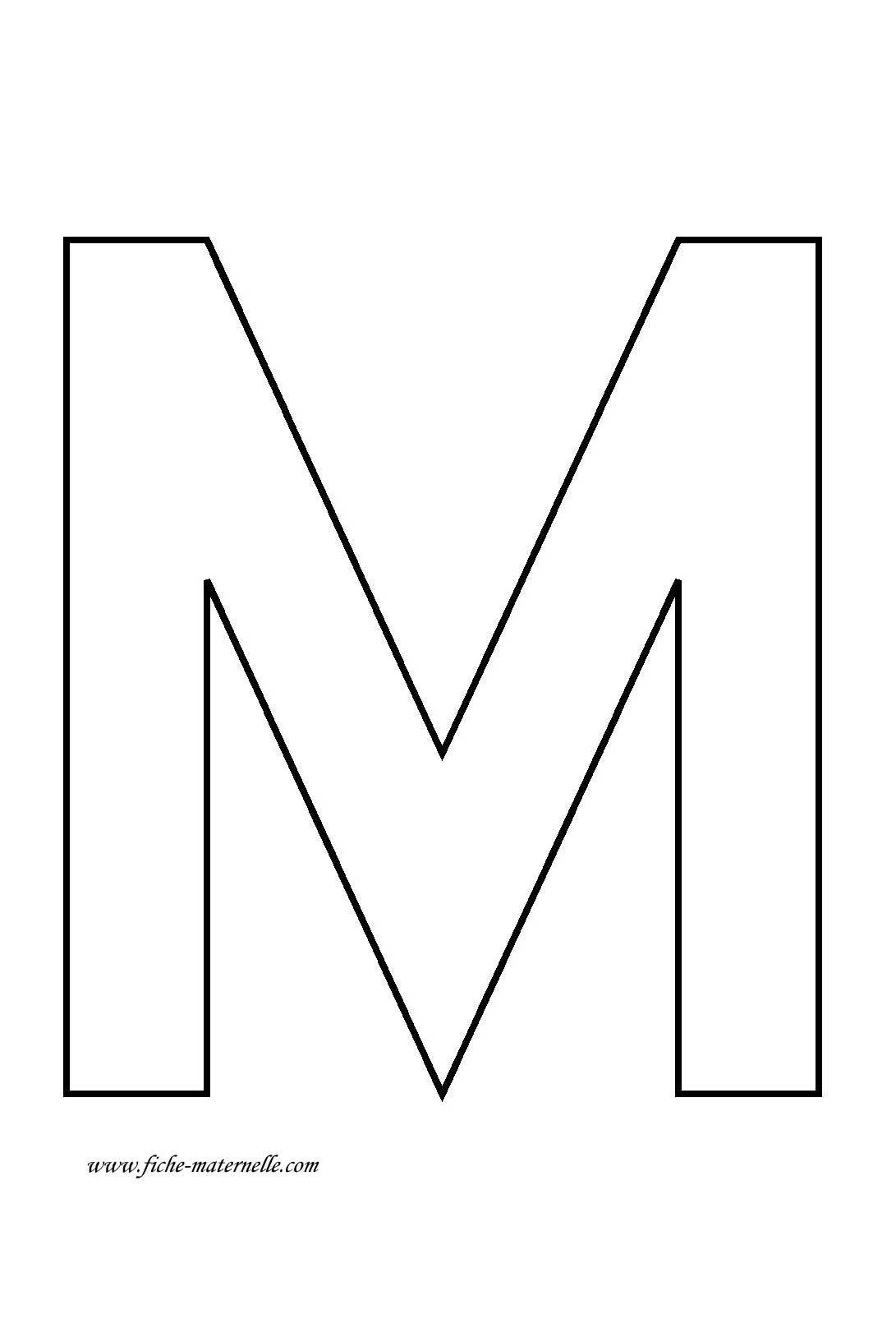 lettre m Lettre de l'alphabet à décorer | Обучение | Pinterest lettre m