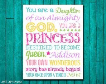 Ik ben zijn de dochter van een koning van CottageArtShoppe op Etsy
