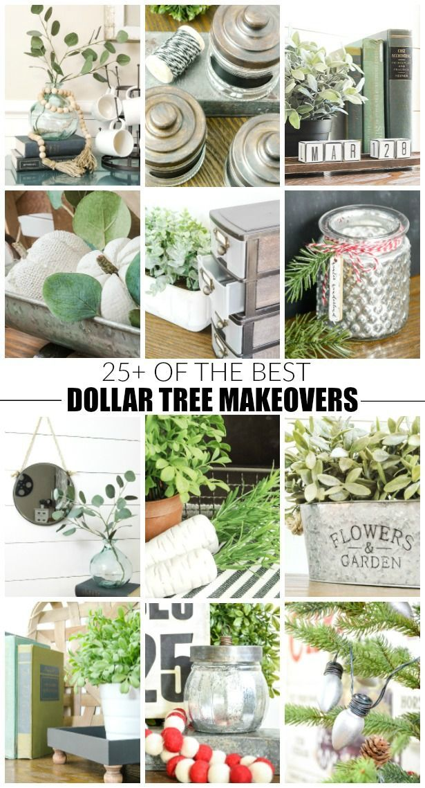 Info's : WOW! These Dollar Tree makeovers are unbelievable and the best on the web! #dollartree #dollartreemakeover #farmhouse