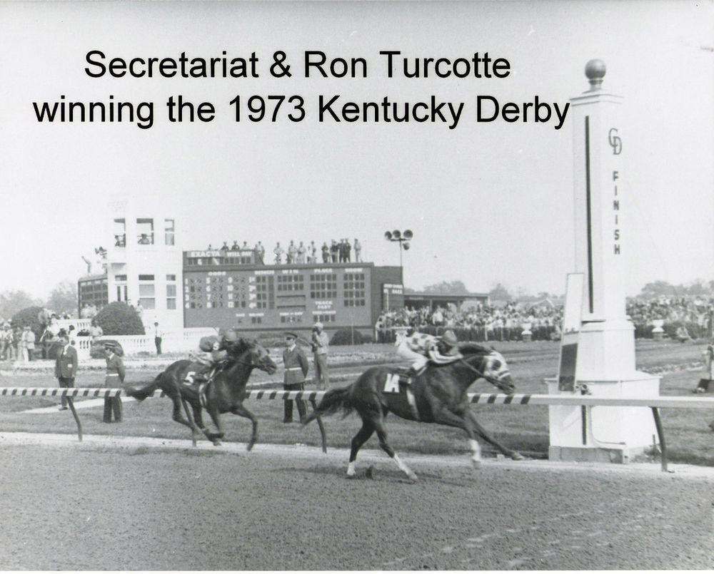1973 SECRETARIAT crossing Kentucky Derby Finish Line in