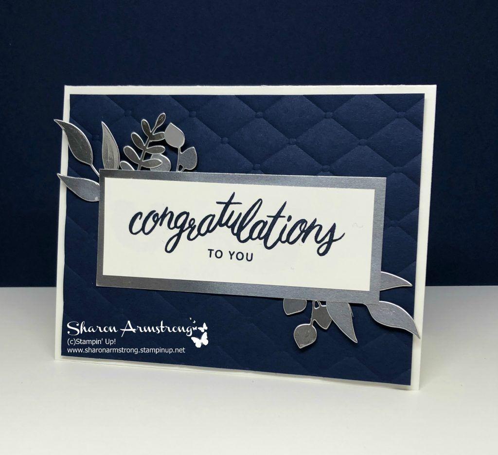 Congratulations Card Friendly Expressions Tx Stampin Sharon Wedding Card Diy Wedding Congratulations Card Congratulations Card