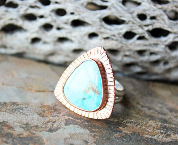RESERVED Del Sol Sunray Turquoise Statement by littleWingedHeart