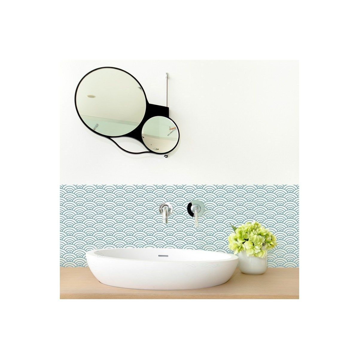 Credence Salle De Bain Adhesive Japanese Touch Lot De 2 Credence Salle De Bain Toile De Verre Et Credence