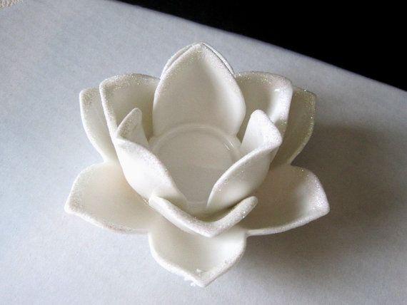 White ceramic lotus flower candle holder tea light holder avon white ceramic lotus flower candle holder tea light by oldstyle 1200 mightylinksfo