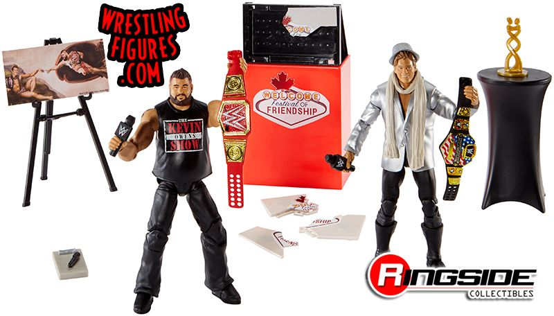 Collectible Action figures Kevin Owens Chris Jericho WWE Elite Moments