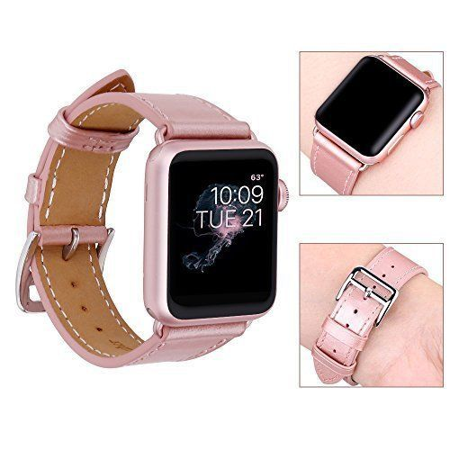 a4ec1a71f Apple Watch Band Genuine Leather iWatch Strap 38mm For Girls Rose Gold NEW  #AppleWatchBand