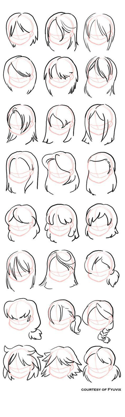 Photo of How to Draw Hairstyles- Straight with Thanks