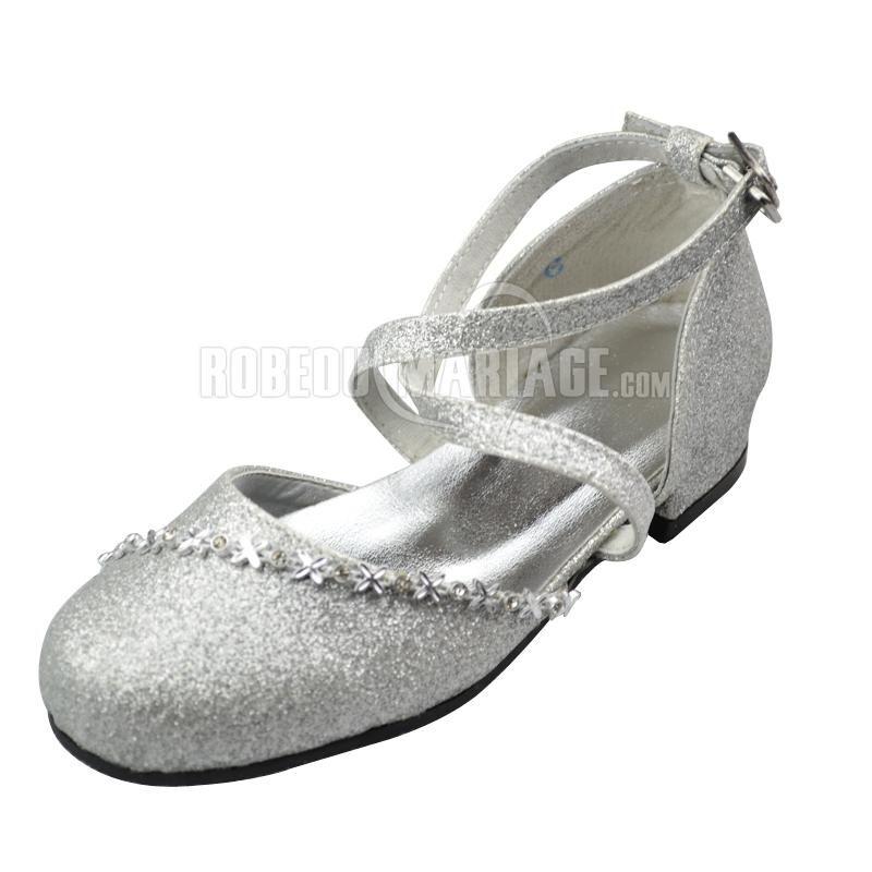 paillette fleur chaussures de mariage
