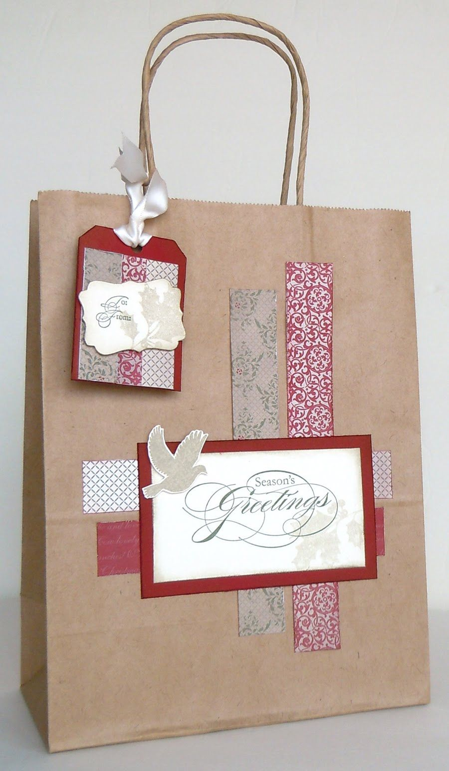 Stampin' Holiday Gift Bag