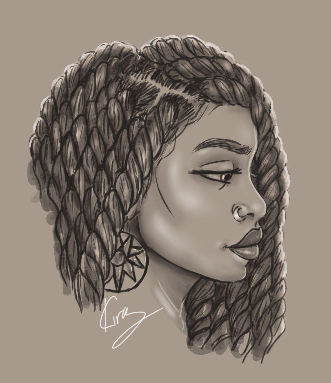 black women art cool drawings