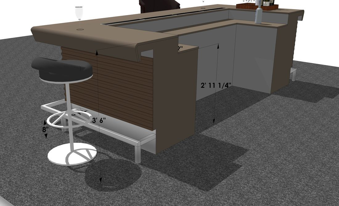 Resturant Bar Typical Standard Height Dimensions Spec Interior