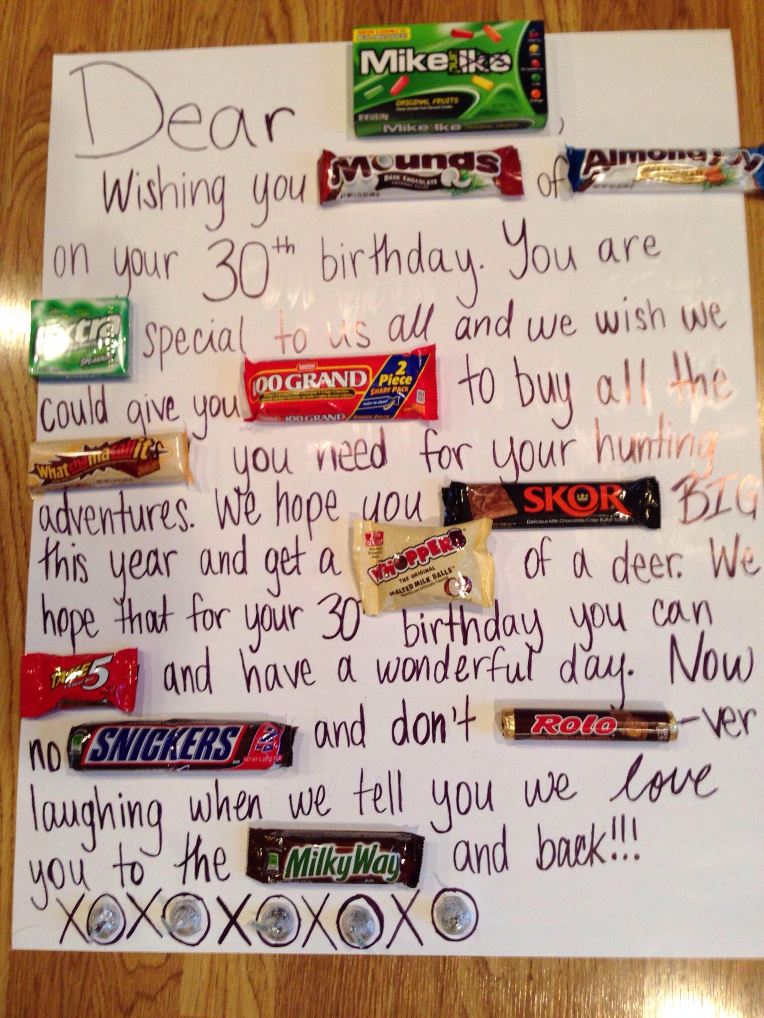 Candy Bar Birthday Card Candy Bar Birthday Funny Birthday Cards Dad Birthday Gift