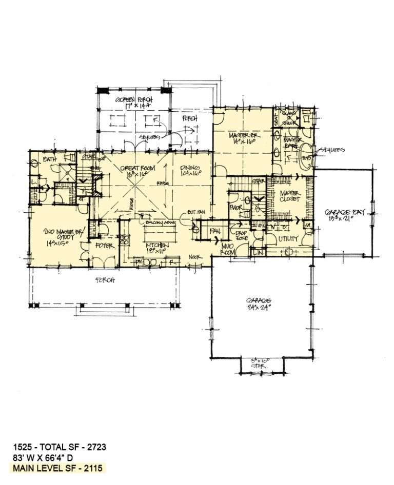 First floor of conceptual house plan also for the home houseplans pinterest rh