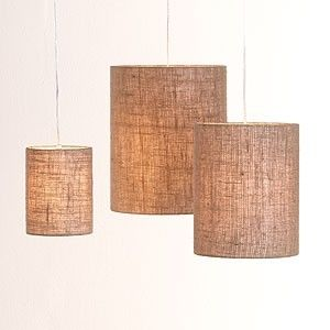 Burlap Pendant Lights Eclectic Lamp Shades Home Decor Home