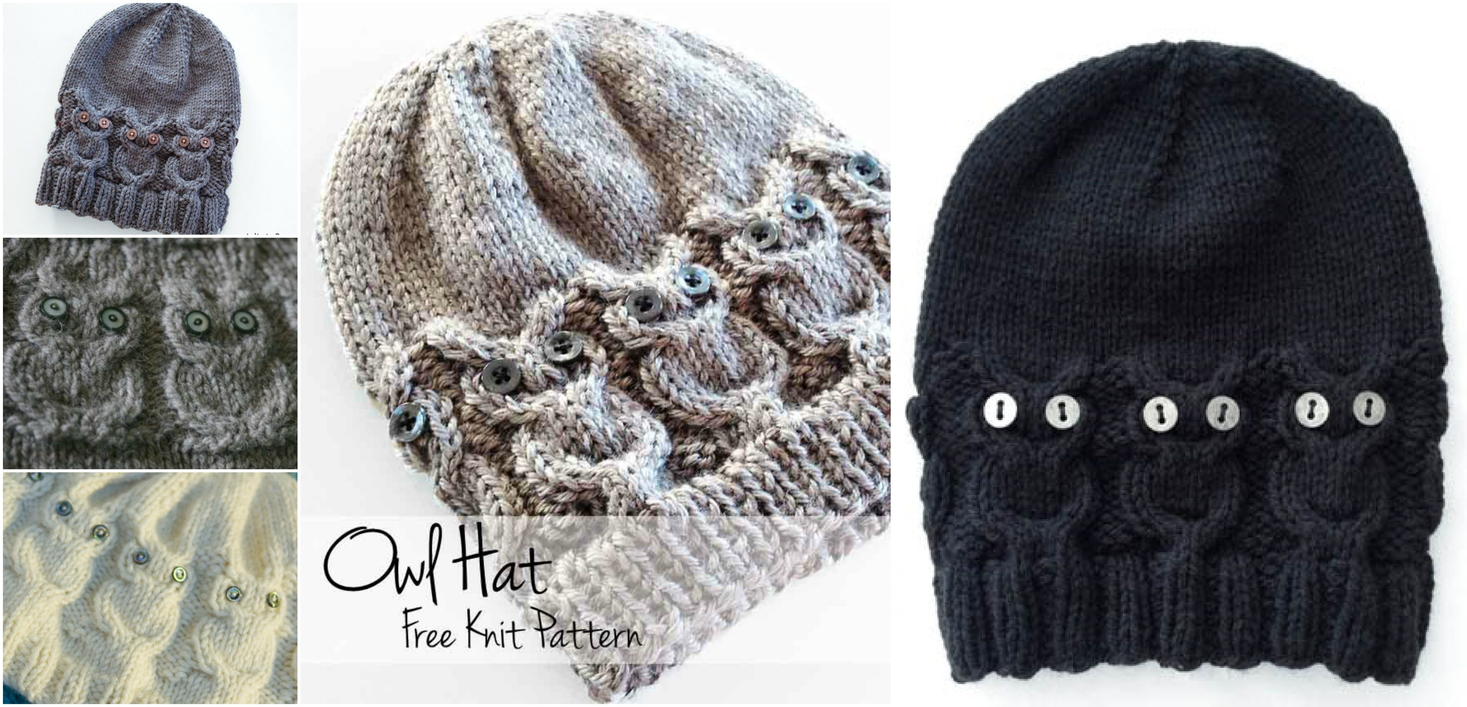 How to knit owl hat knitting knitted owl owl hat