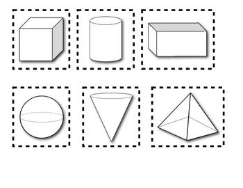 three dimensional shapes coloring pages - photo#11