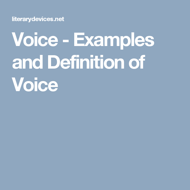 Voice Examples And Definition Of Voice Literary Terms Satire