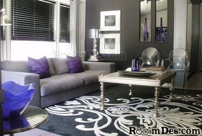 Coffee Table Purple Living Room Silver Living Room