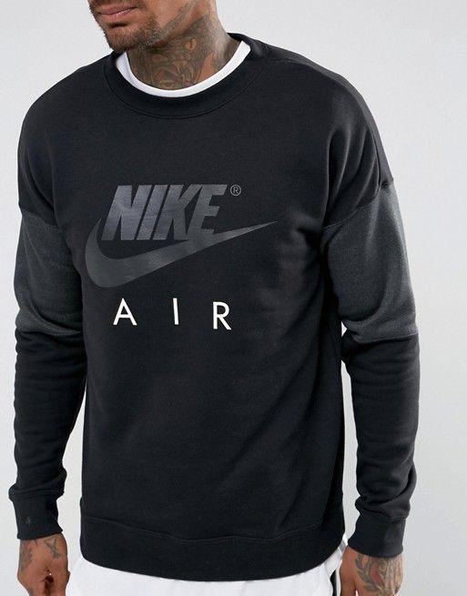 Nike Air Crew Neck Sweatshirt In Black 861622-010  75e862373ef