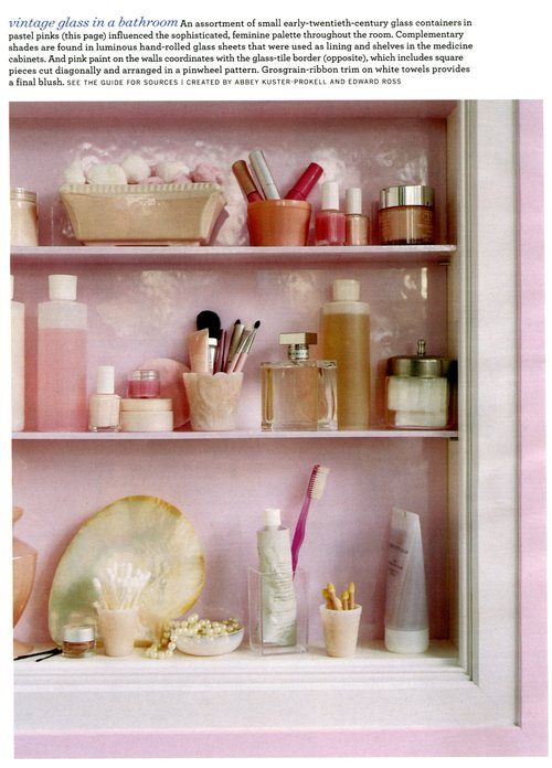 Pretty Bathroom Organization Use Lots Of Little Cups Etc To Keep