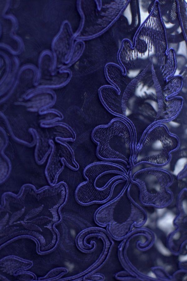 Tecido tule bordado azul marinho   Bordados incríveis   Pinterest   Ems 51a870ddc1