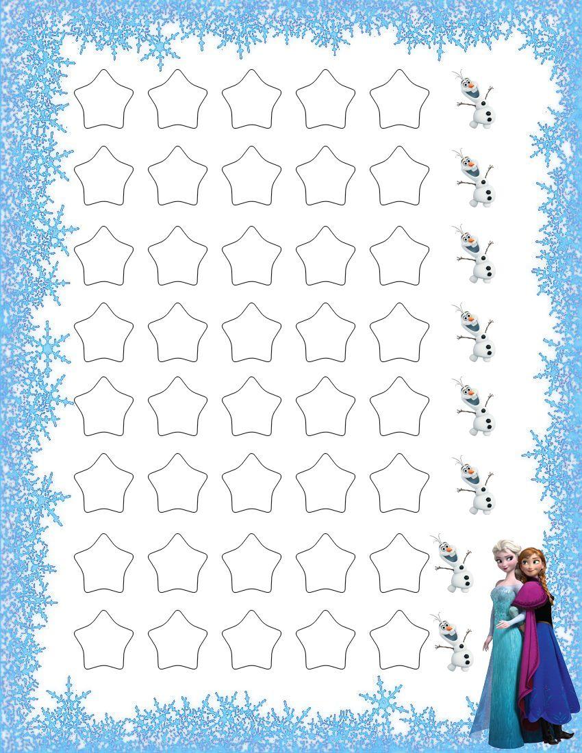 Frozen Potty Training Rewards Chart Potty Training Sticker Chart Toddler Sticker Chart Kid Potty Chart