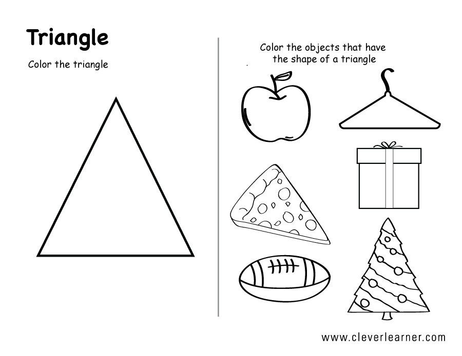 Image result for shape triangle worksheets for toddlers | child care ...