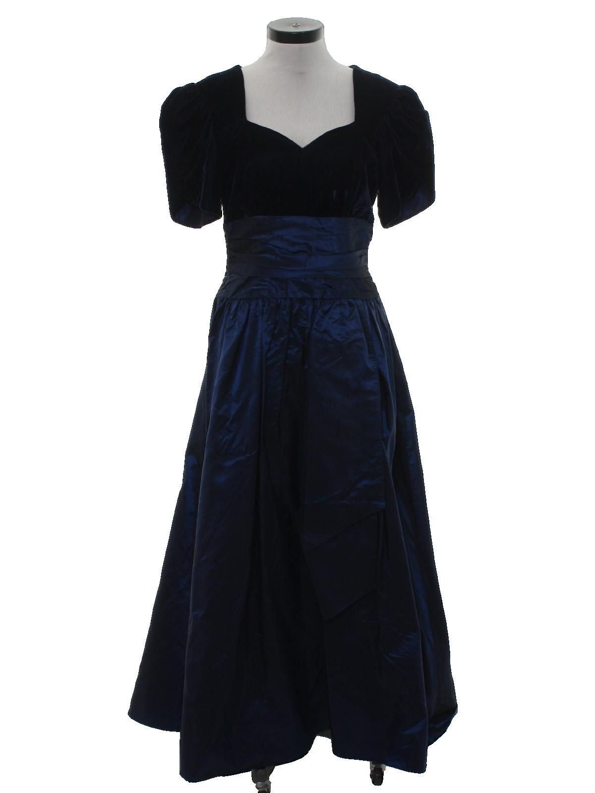 Us union made totally s maxi prom or cocktail dress s
